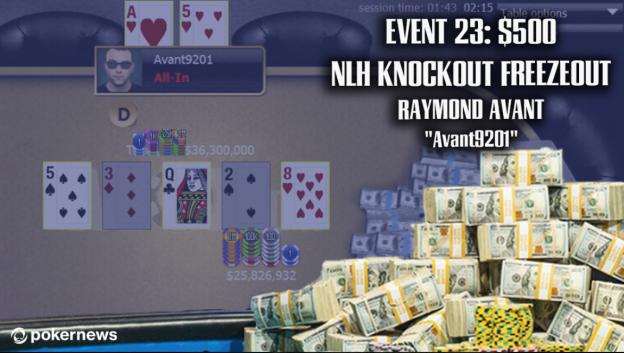 "Raymond ""avant9201"" Avant Wins 2020 WSOP Event # 23: $ 500 NLH Knockout ($ 93.776)"