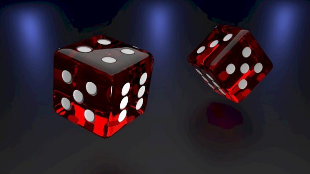 Dua dadu untuk game dadu