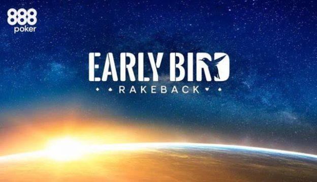 Lihat Berapa Banyak yang Dapat Anda Hasilkan dengan Early Bird Rakeback di 888poker