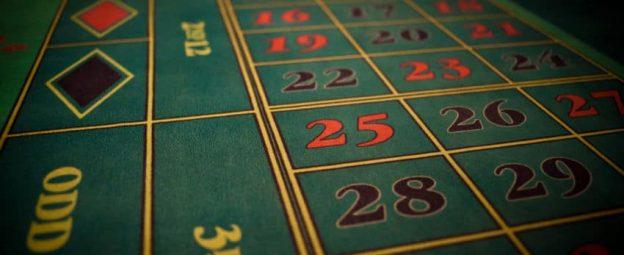 Roulette merasa dan angka.